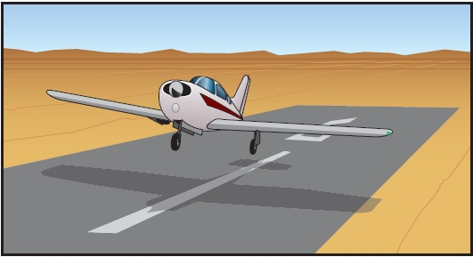 Figure 16-7. Landing with one main gear retracted.