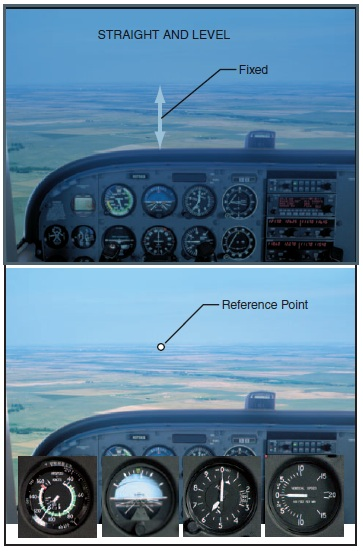 Nose reference for straight-and-level flight